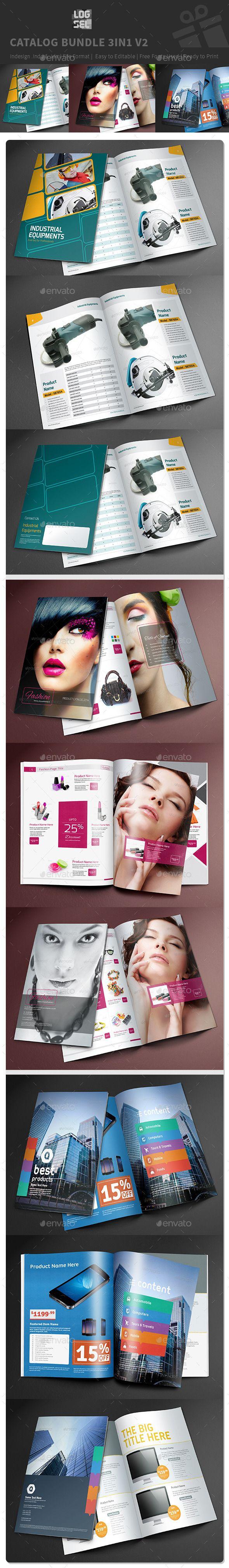 Catalog Bundle 3in1  V2 — InDesign INDD #most elegant #Catalog Bundle • Available here → https://graphicriver.net/item/catalog-bundle-3in1-v2-/9603170?ref=pxcr
