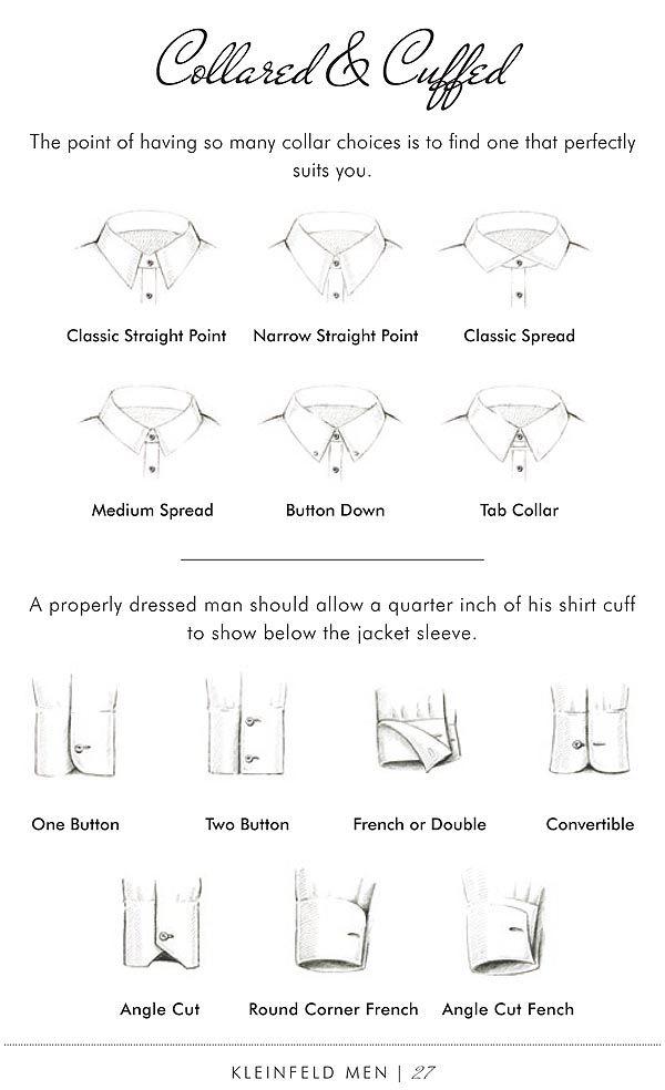 Kleinfeld Men collars and cuffs