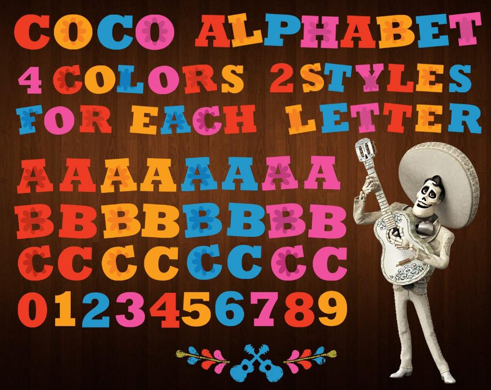Coco Font Png Disney Coco Alphabet Disney Coco Letters Etsy In 2021 Disney Font Free Disney Font Disney Alphabet