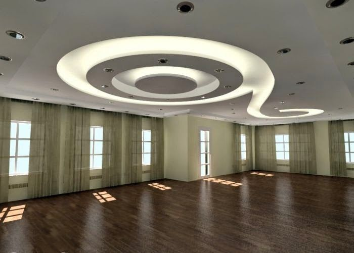 4 Curved gypsum ceiling designs for living room 2015 ceilings