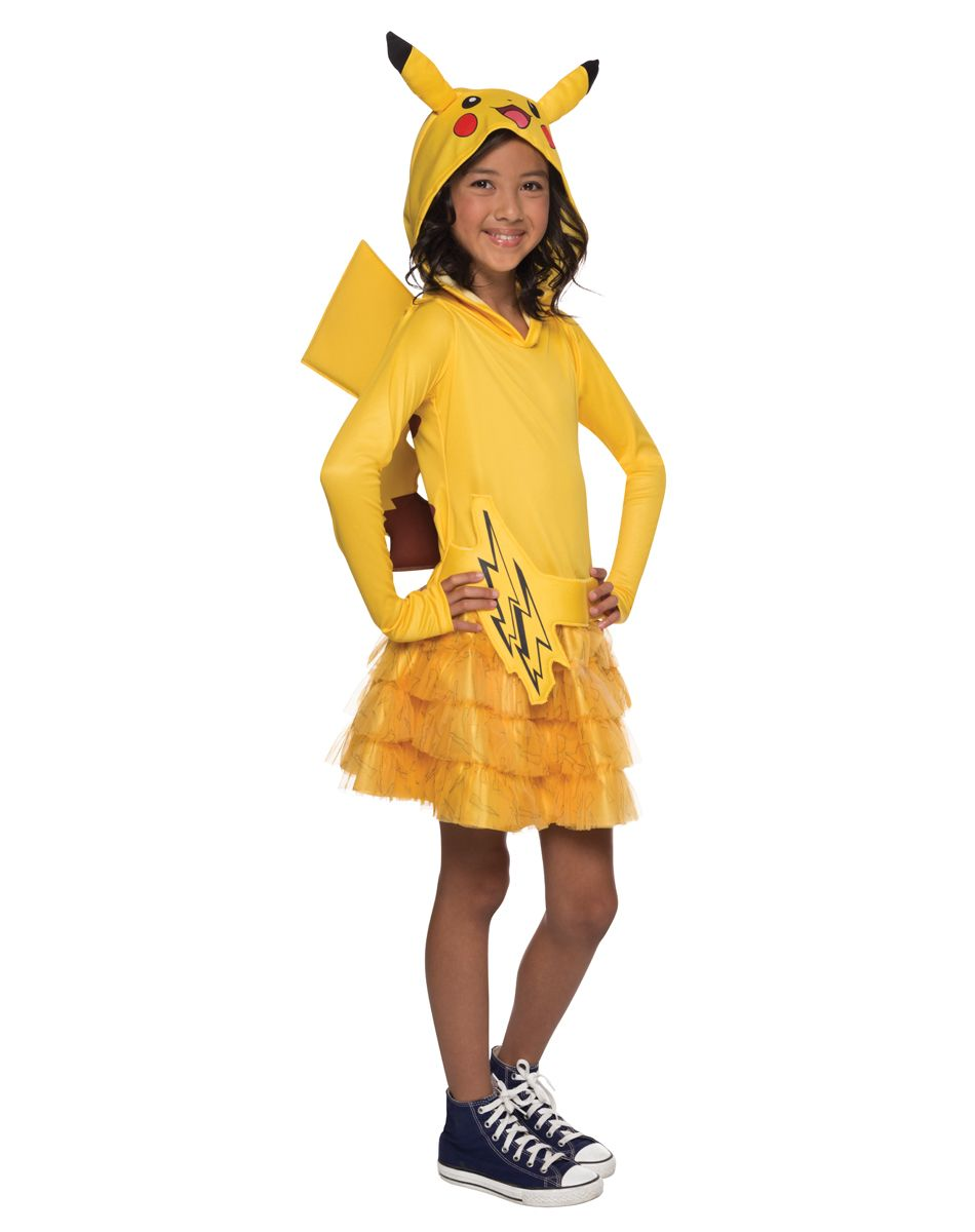 Pokeman Pikachu Hoodie Dress Child Costume exclusively at Spirit ...