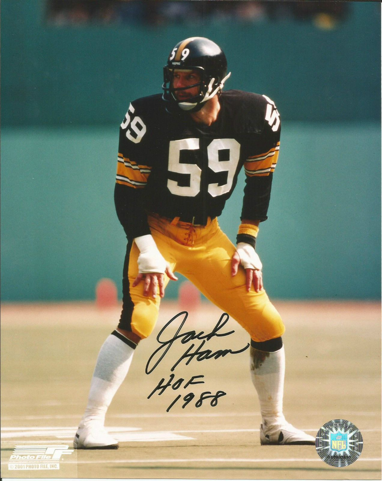 314bcf8f587 JACK HAM SIGNED PHOTO PITTSBURGH STEELER PRO FOOTBALL HALL OF FAME AUTOGRAPH