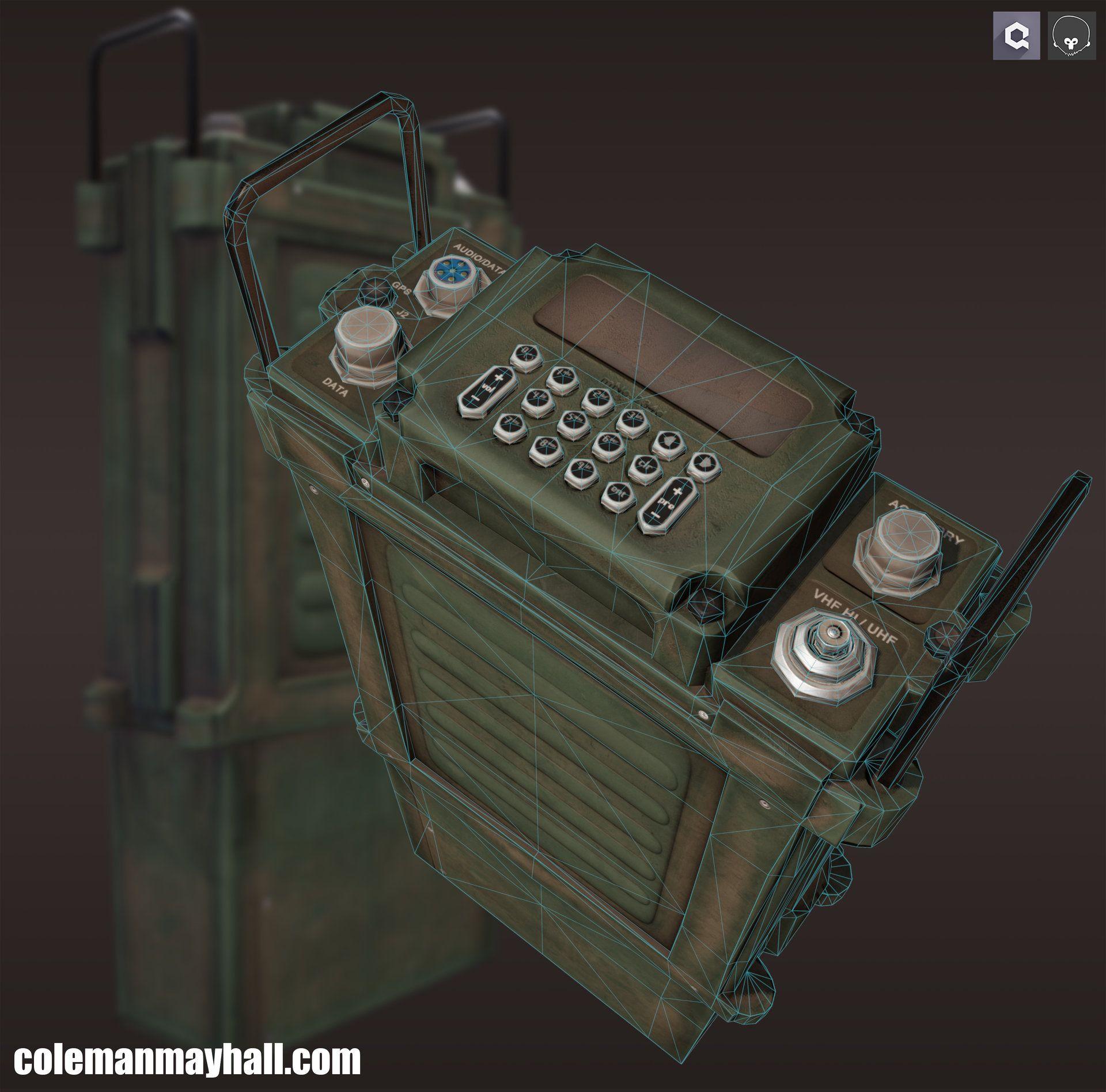 ArtStation - PRC 117 Radio, Coleman Mayhall | object
