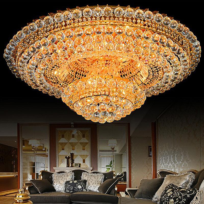 Led Flush Mount Crystal Ceiling Light European Led Round Lighting Living Room Dining Room In 2020 Ceiling Lights Crystal Chandelier Lighting Crystal Ceiling Light