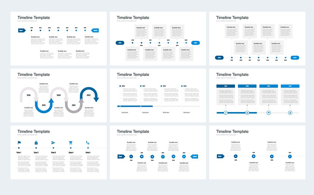 Timeline Pack for Keynote Template Design Ideas Sketchbook