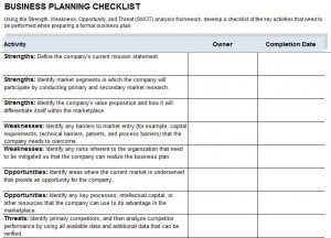 Business continuity plan checklist template hr special projects business continuity plan checklist template flashek Images