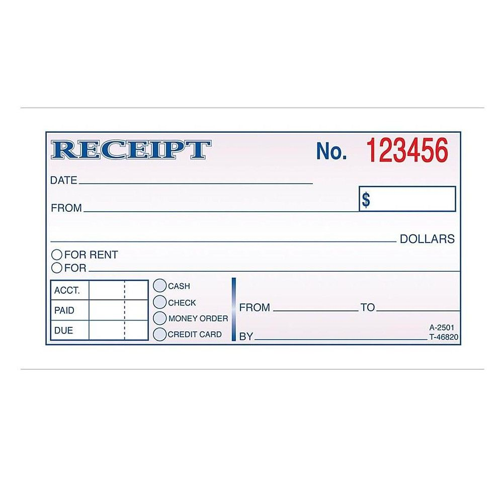 Adams Receipts Book 2 75 L X 5 38 W 150 Pack 448239 In 2021 Receipt Template Book Printing Services Credit Card