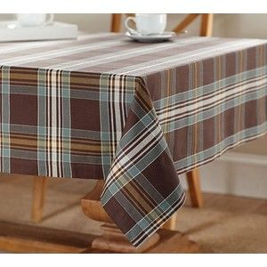 Pottery Barn Hunter Plaid Tablecloth   Polyvore