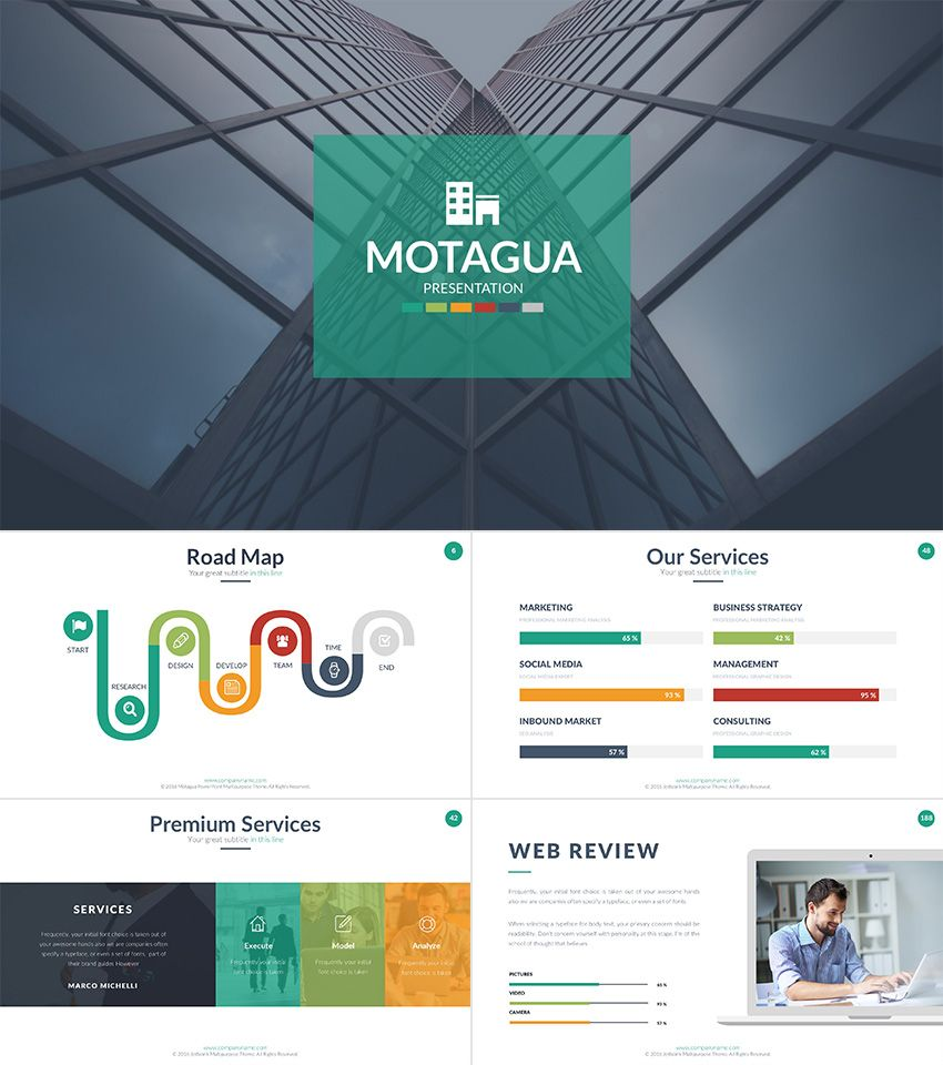 motagua multicolored presentation template free powerpoint