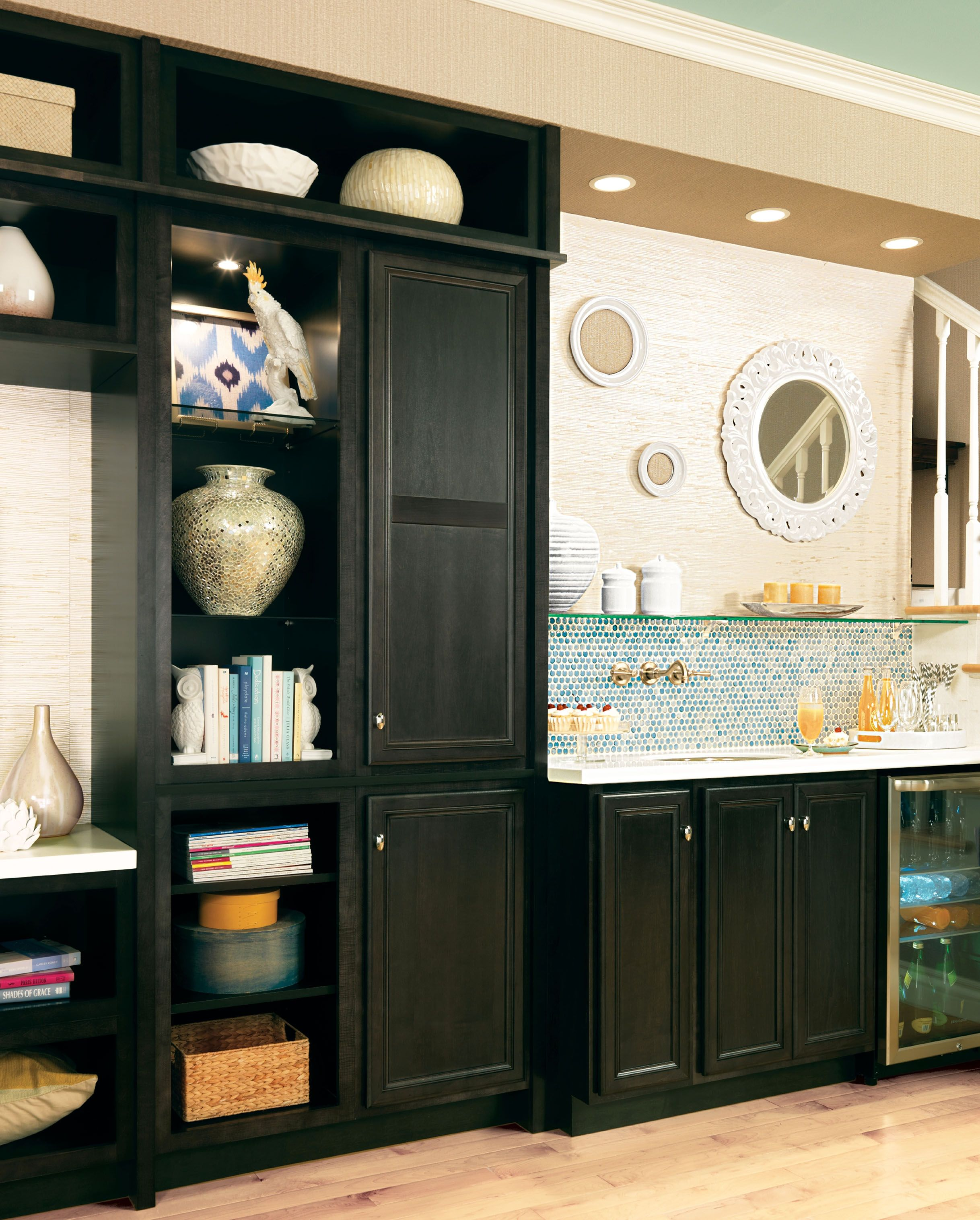 Merillat Classic® Glen Arbor In Maple Dusk   Add Shelves To Open Cabinets  To Increase