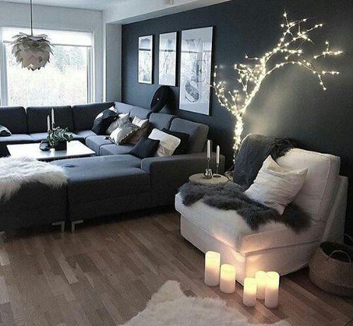 Lichterkette Einrichtungsideen Pinterest Lichterkette - wohnzimmer modern einrichten warme tone