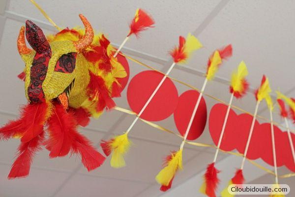 Fabriquer Un Dragon Chinois école Pinterest Deco Nouvel An
