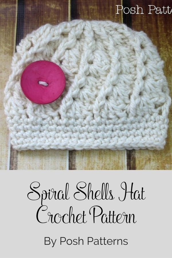 Crochet PATTERN - Spiral Shell Hat - Crochet Hat Pattern - Includes ...