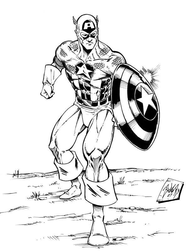 avengers captain america coloring pages 07 httpcoloringonwebcom - Captain America Pictures To Color