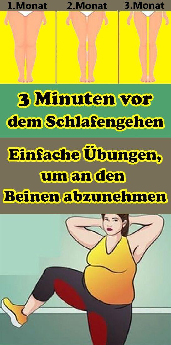 3 Minuten vor dem Schlafengehen: Einfache Übungen zum Abnehmen an den Beinen   - Gesundheit und fitn...