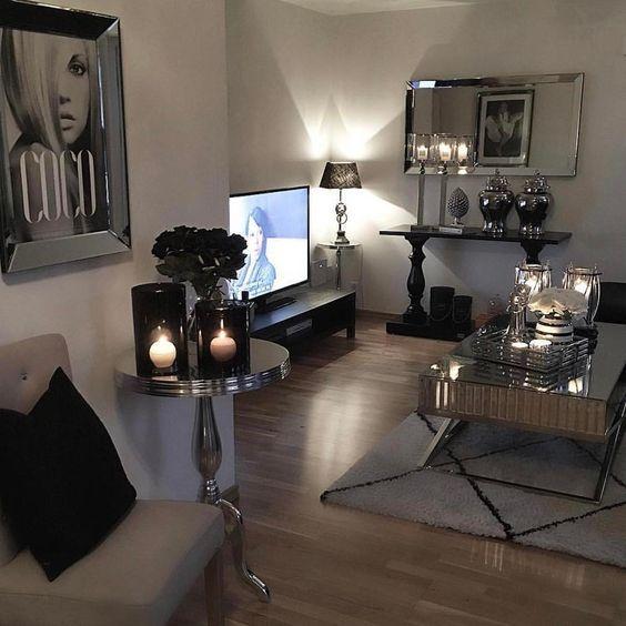 ♡ ᒪOᑌIᔕE ♡ Glam Home Living Pinterest Living rooms, Room