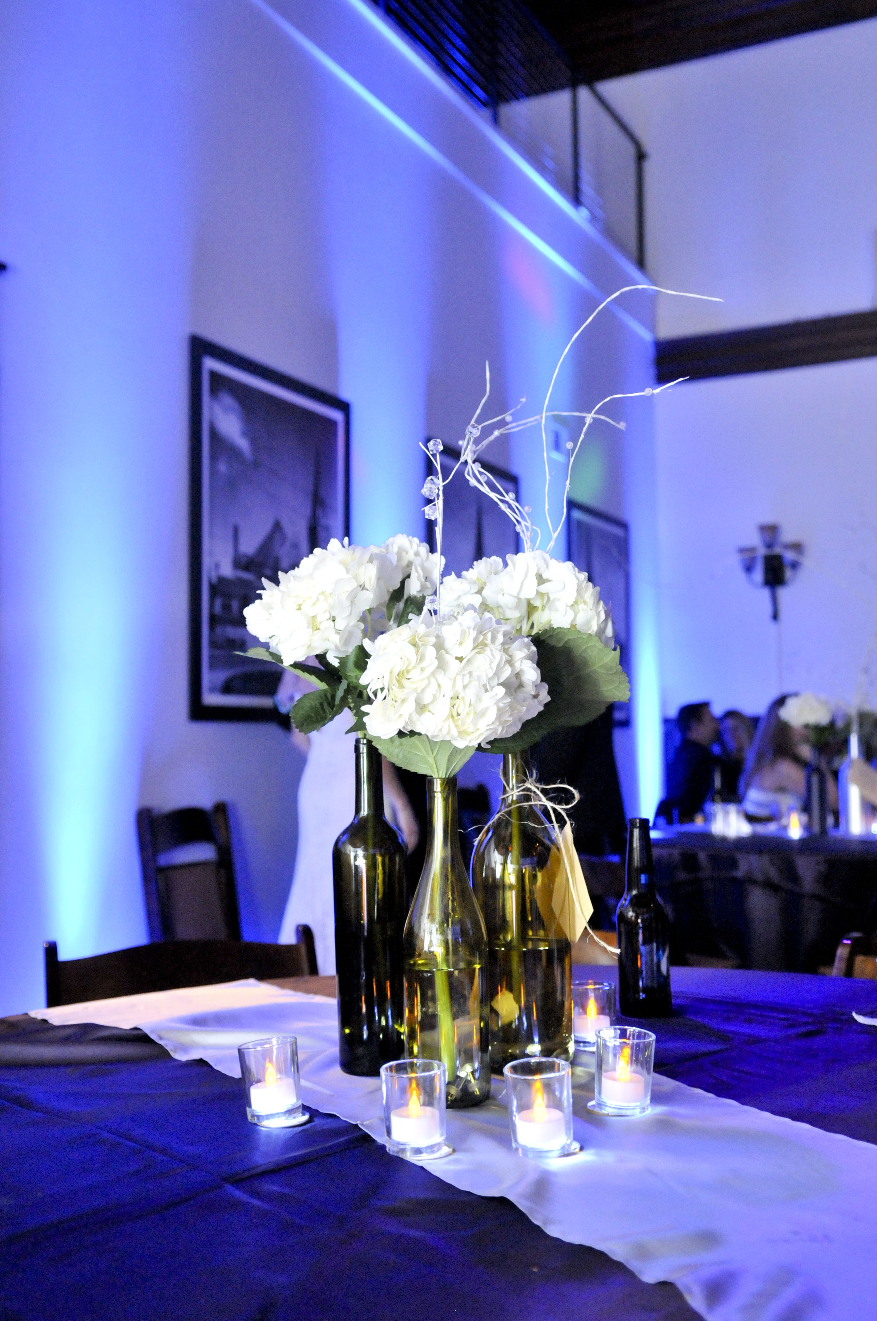 Lights For Wine Bottles Partyzone Productions Wine Bottle Centerpieces With Waterproof