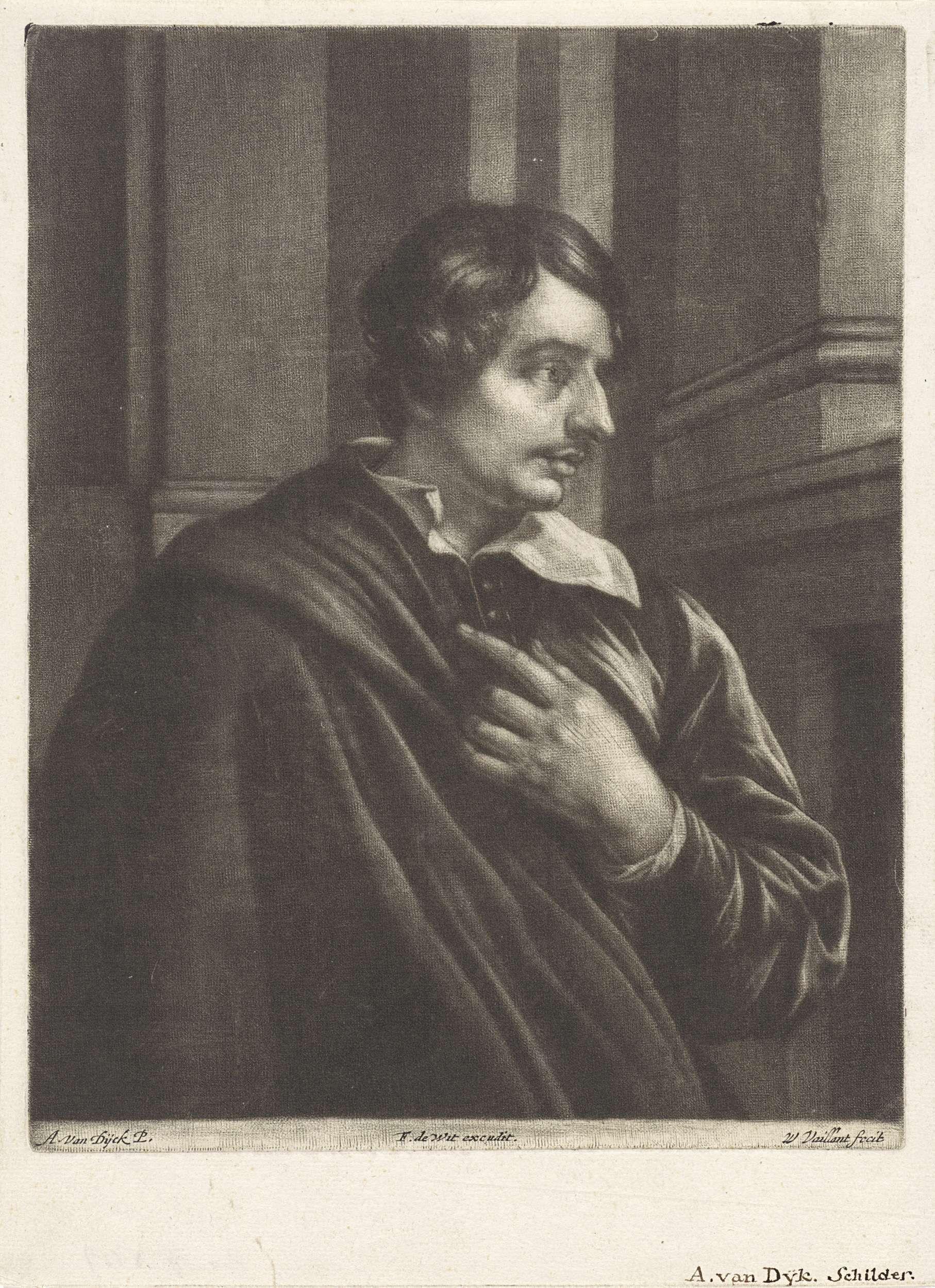 Wallerant Vaillant   Portret van een man, mogelijk Jean Leclerc, Wallerant Vaillant, Jan de Bisschop, Frederik de Wit, 1658 - 1677  