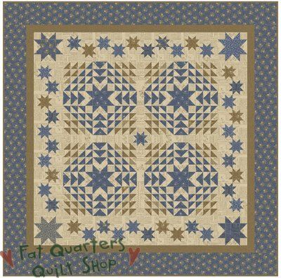 Fat Quarters Quilt Shop For all your quilting & fabric needs : Star Spangled Pattern by Planted Seed Design