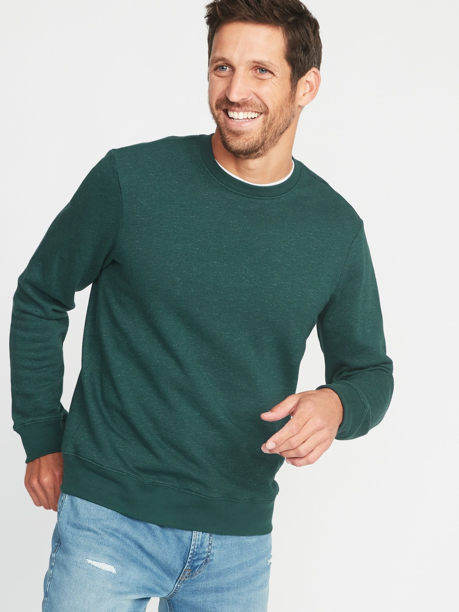 Classic Crew Neck Sweatshirt For Men Old Navy Hoodie Design Mens Fashion Wear Men Sweater [ 2000 x 1500 Pixel ]