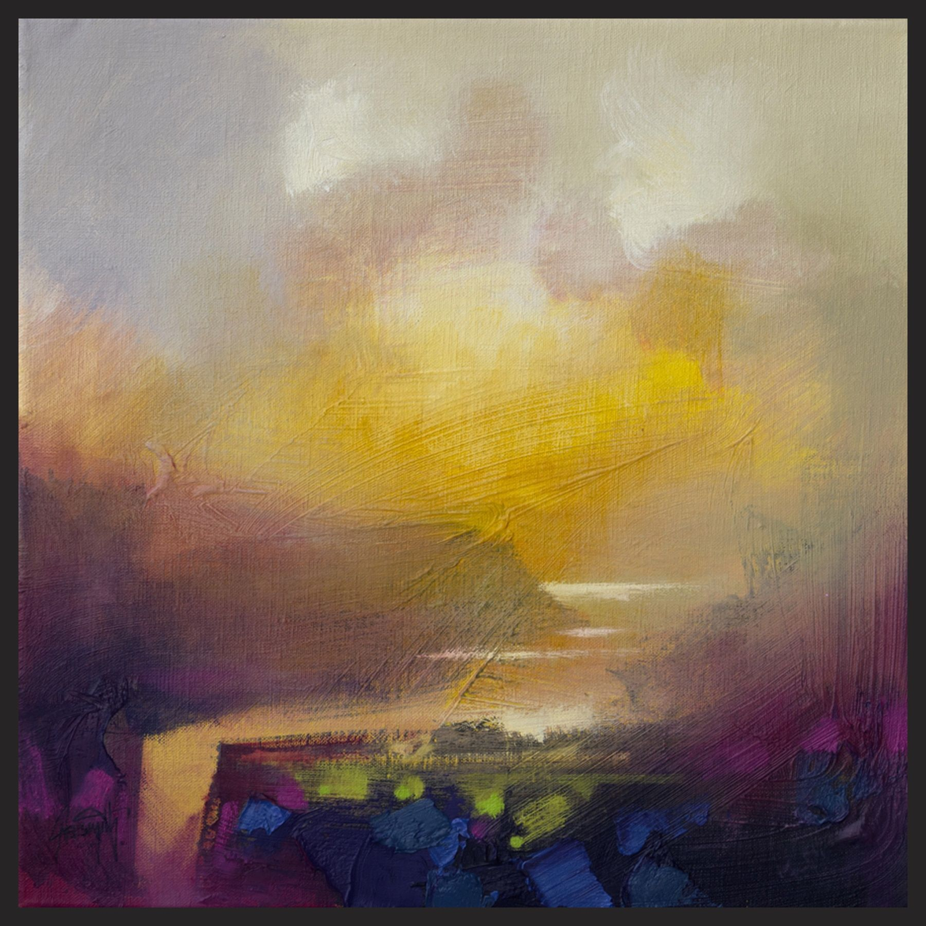 Hobbitholeco Scott Naismith \'Sunny View I\' Framed Gel Brush Canvas ...