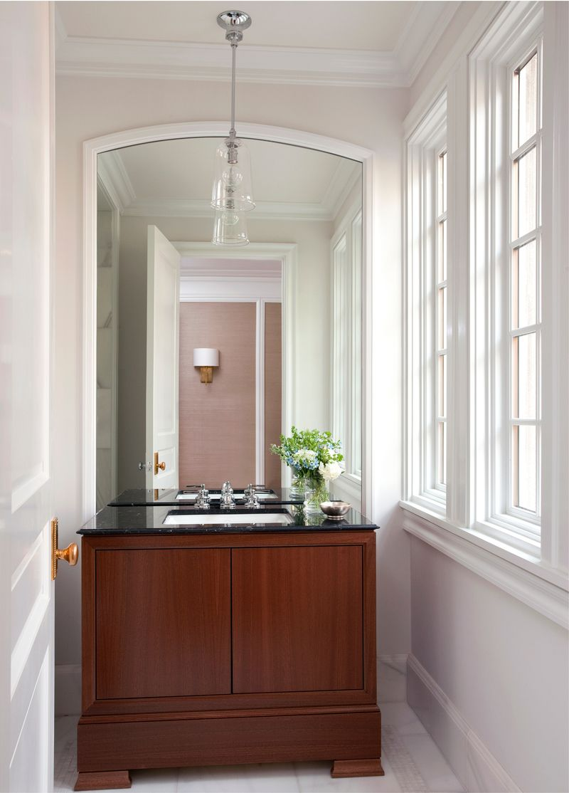 Transitional Bathroom Vanity In Chestnut Hill Ma By Studio Dykas