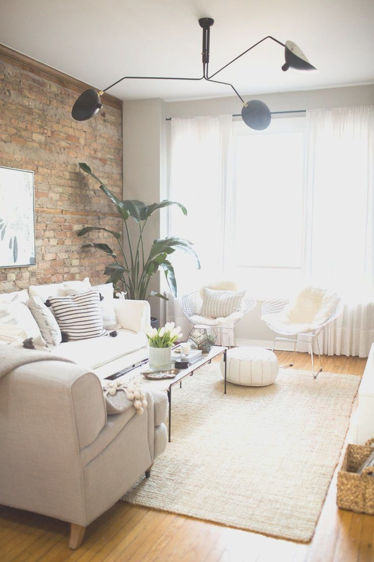 White Furniture Living Room Ideas For Apartments With Picts All with ...