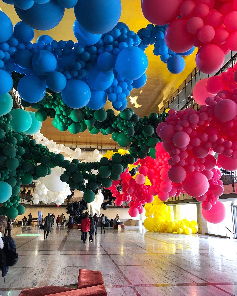 Balloon Installation At New York Ballet Event