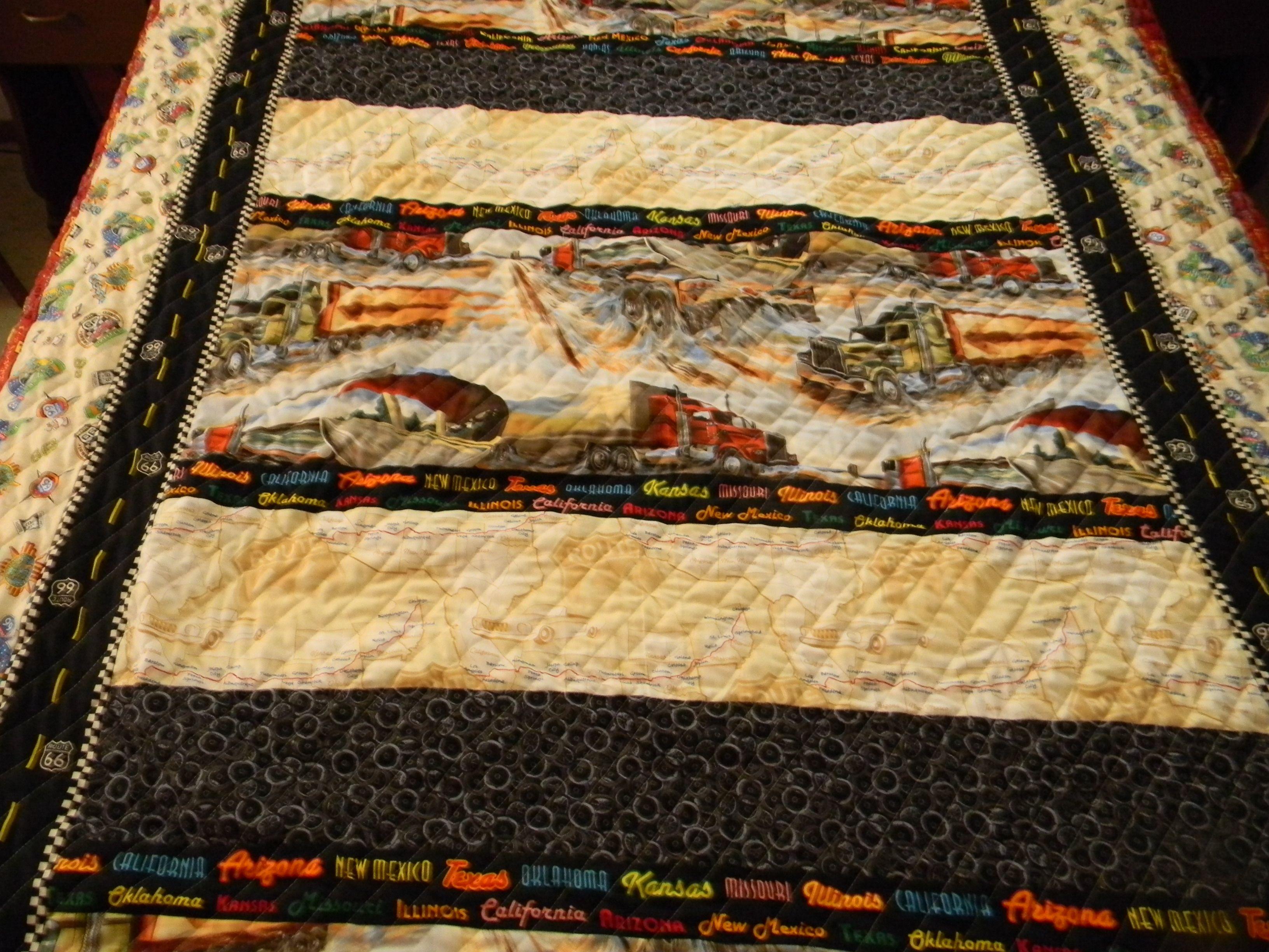 Semi Truck Quilt Hayden Quilts Bohemian Rug Blanket