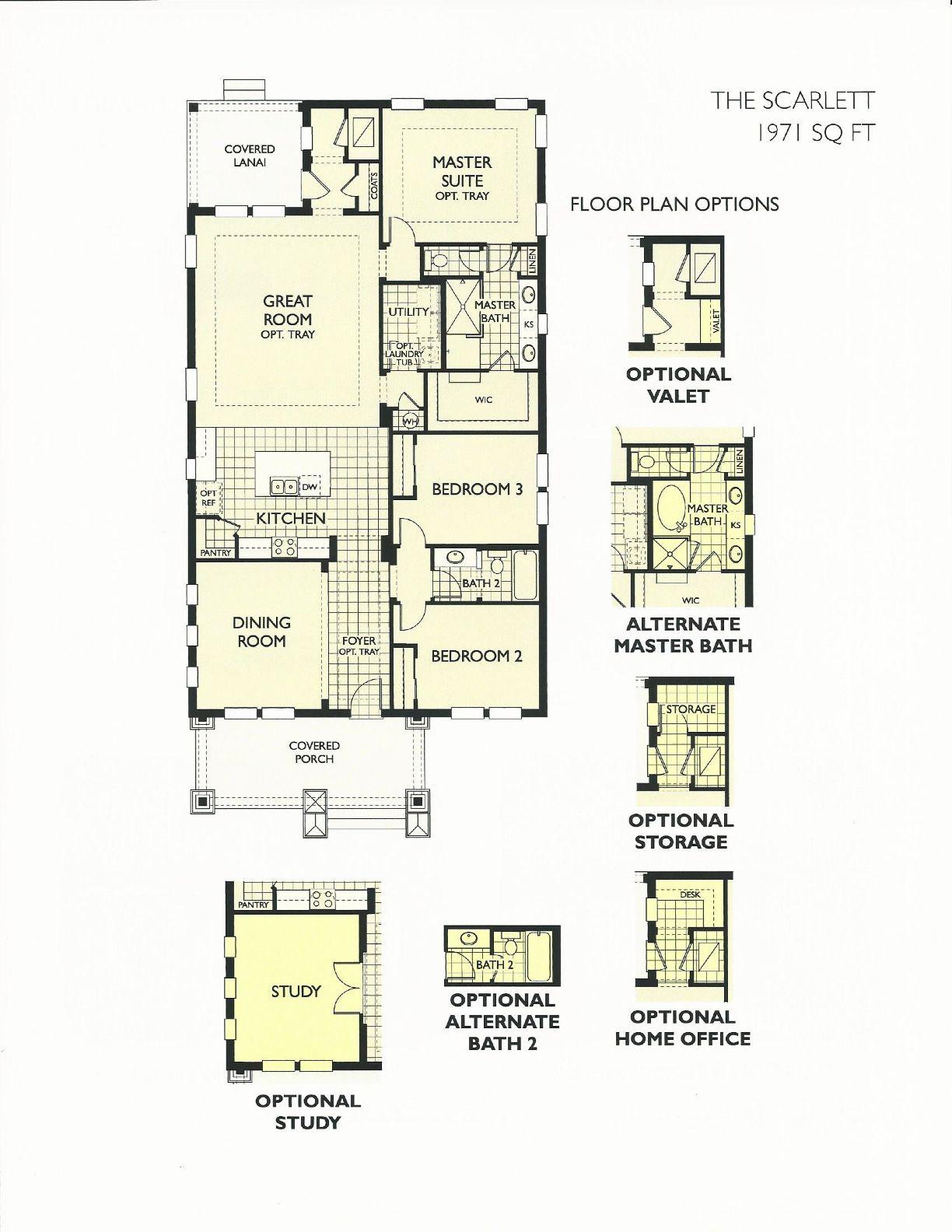 Oakland Park Scarlette Floor Plan In Winter Garden FL