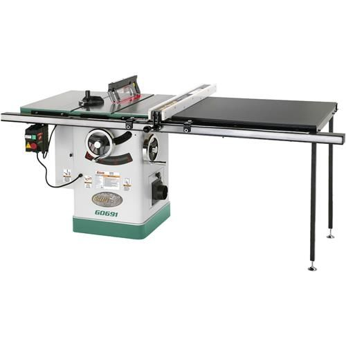 10 3hp 220v Cabinet Table Saw With Long Rails Riving Knife Cabinet Table Saw Table Saw Diy Table Saw