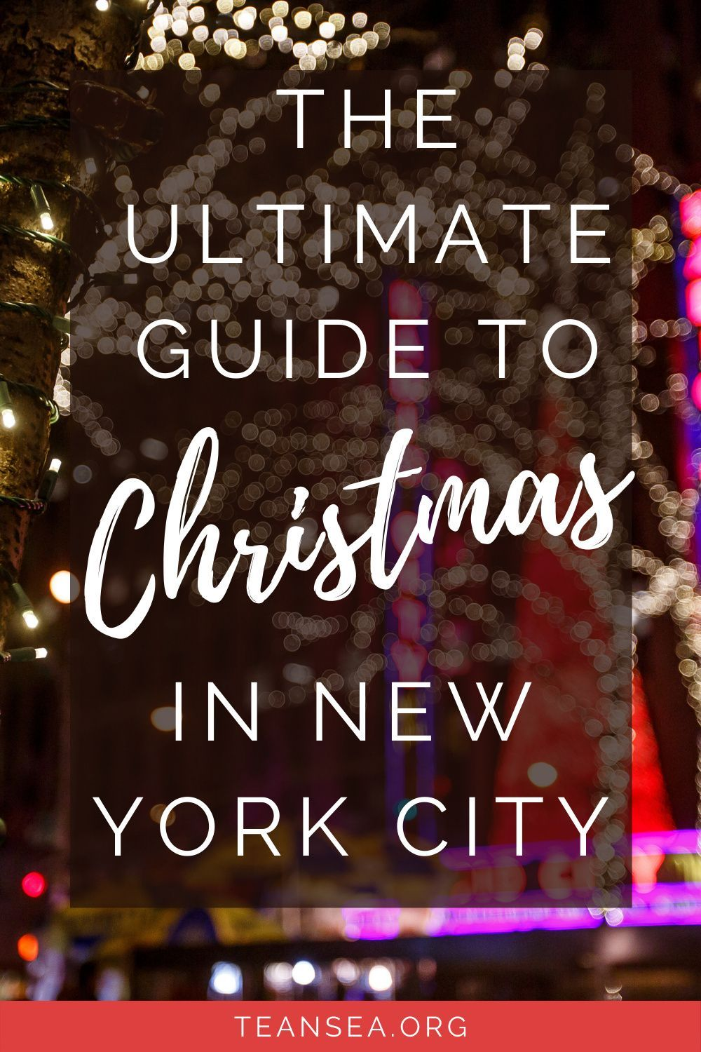 New York City is full of fun things to do for Christmas, check out this guide for everything you don't want to miss! #nyc #christmasinnyc #newyorkcitychristmas | things to do in new york for christmas | Christmas in new york city guide | NYC christmas | things to do nyc christmas | NYC Christmas guide | Christmas travel guide | Holiday travel guide | How to experience Christmas in NYC