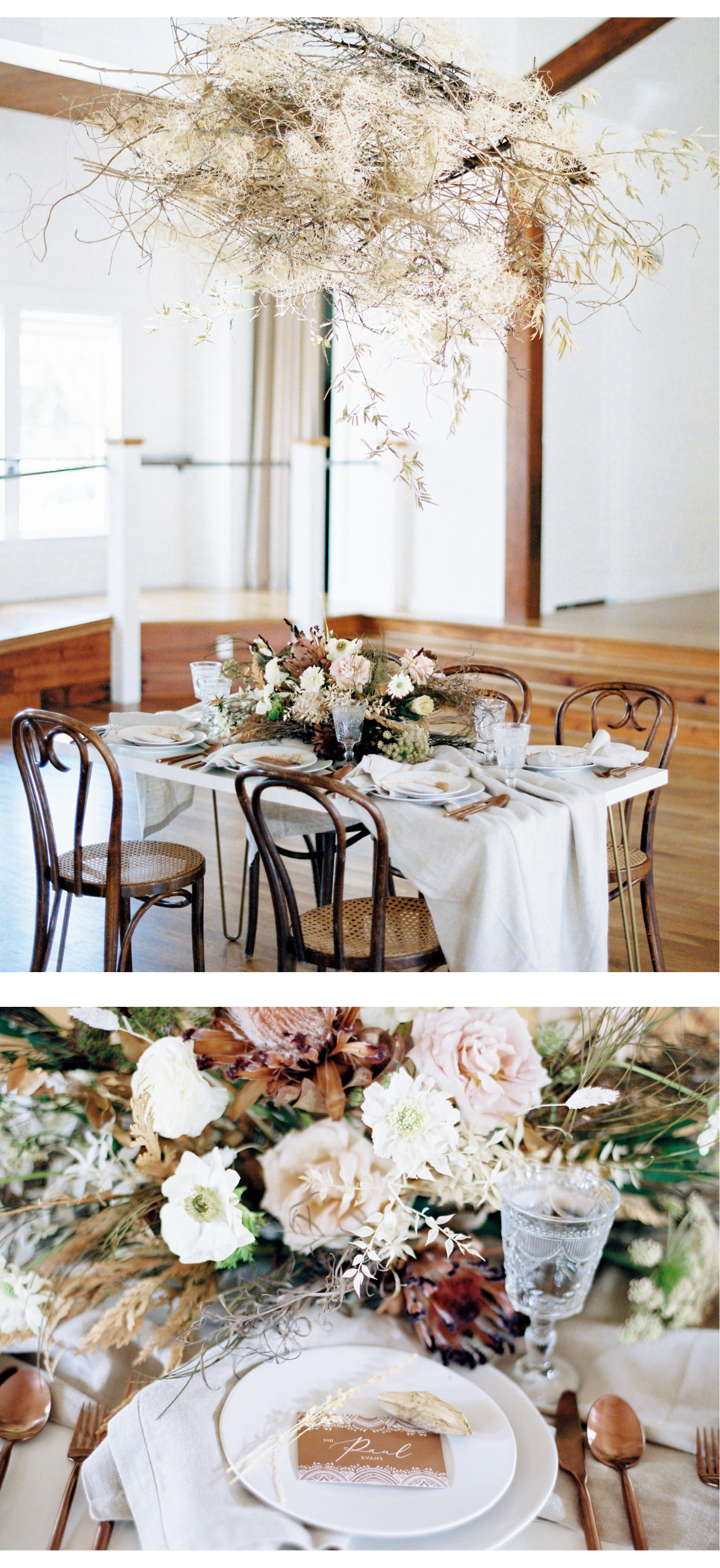 Vintage Dining Table and Chair Rentals for Texas Weddings