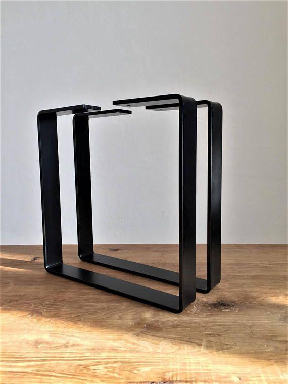 Pieds En Acier Pour Table Industrielle Ideal Pour La Table Basse Ou Banc Peint En Noir Mat Dimension 30 Pied De Table Metal Table En Acier Patte De Table