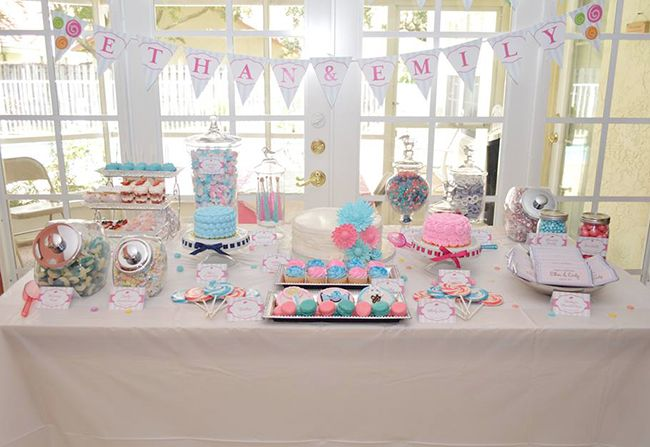 Lollipop birthday party for twins Boy girl twins Birthdays and