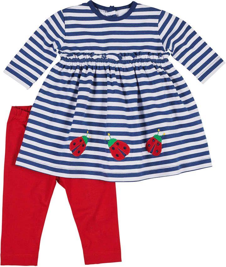f80b77225 Florence Eiseman Striped Ladybug Dress w  Bow Leggings
