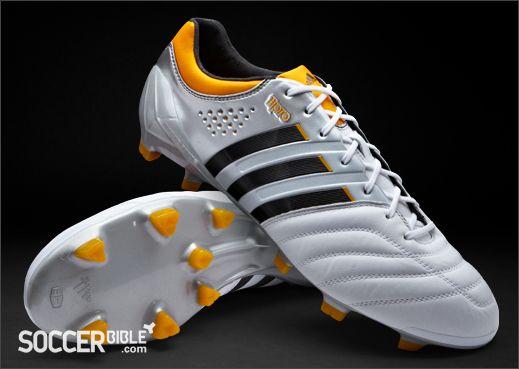 adidas 11Pro SL Football Boots - White/Black/Orange http://www.soccerbible.com/news/football-boots/archive/2012/06/08/adidas-11pro-sl-football-boots-white-black-orange.aspx