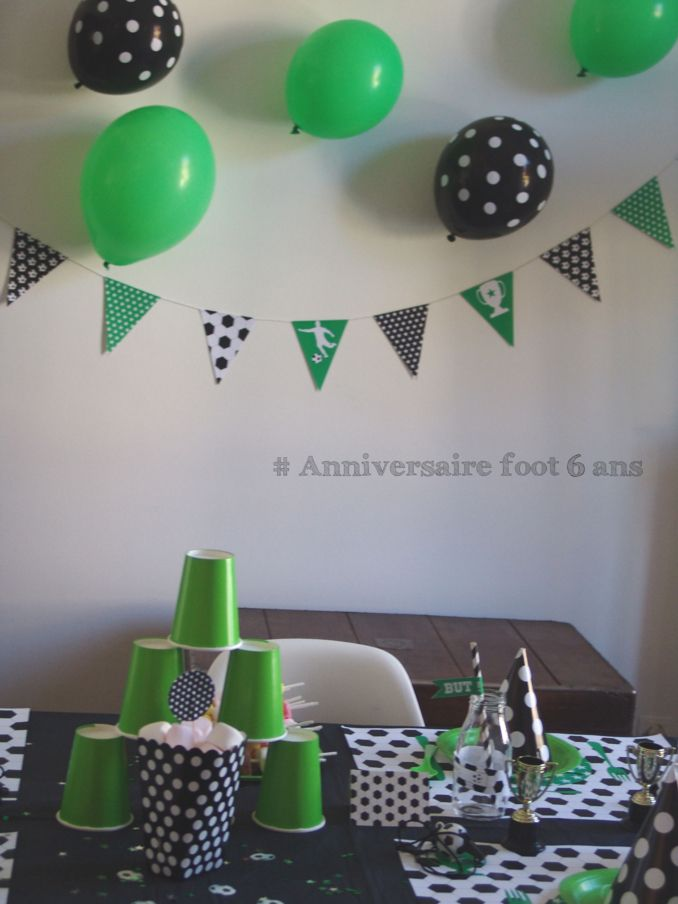 deco anniversaire foot decoraci n pinterest deco anniversaire anniversaires et. Black Bedroom Furniture Sets. Home Design Ideas
