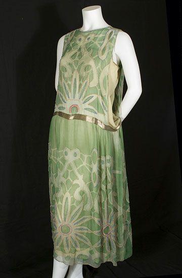 20er jahre kleid grun