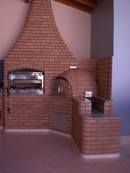 forno e churrasqueira de tijolos \u2026 planos Pinte\u2026