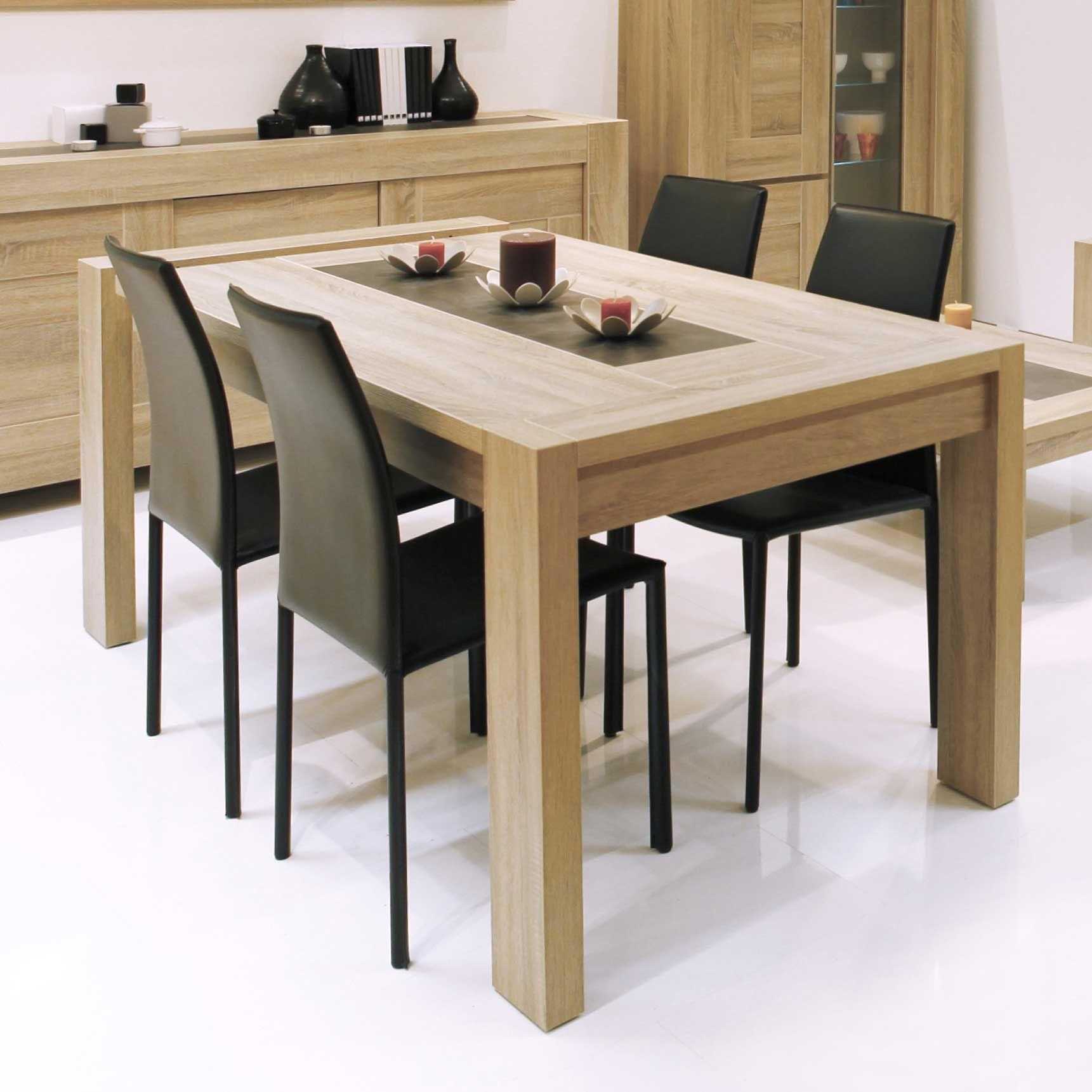 Table à manger rectangulaire bois avec allonge     SALLE A MANGER   042dc4db34a3