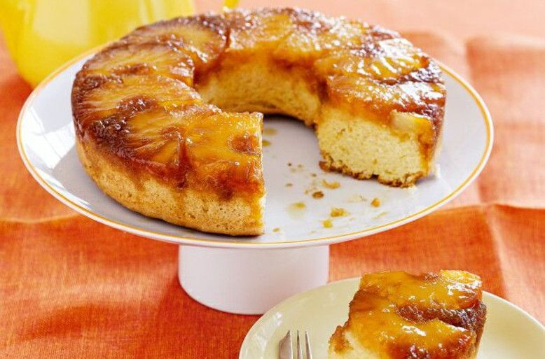 The Best Pineapple Upside Down Cake: What could be better? This easy cake recipe also happens to be healthy, but it has so much flavor to it that you'd never notice!