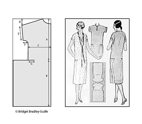 1920\'s One Hour Frock Pattern *UPDATED | Pinterest | Felsen, 1920er ...