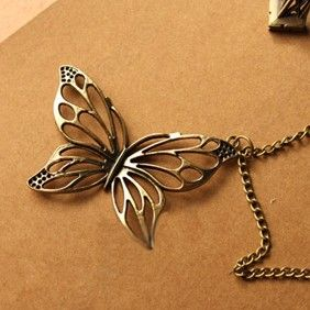 Discount China china wholesale Diamante Retro Hollowing Butterfly Sweater Chain Pendant 6448 [6448] - US$1.49 : Bluelans