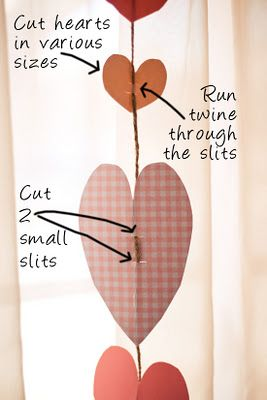 Heart garland; easy enough for preschoolers I'd say