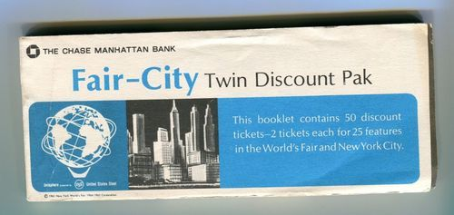 NYWF 1964 Worlds Fair Unused Coupon Book Chase Manhattan Bank Aquafoil Sightsee | eBay