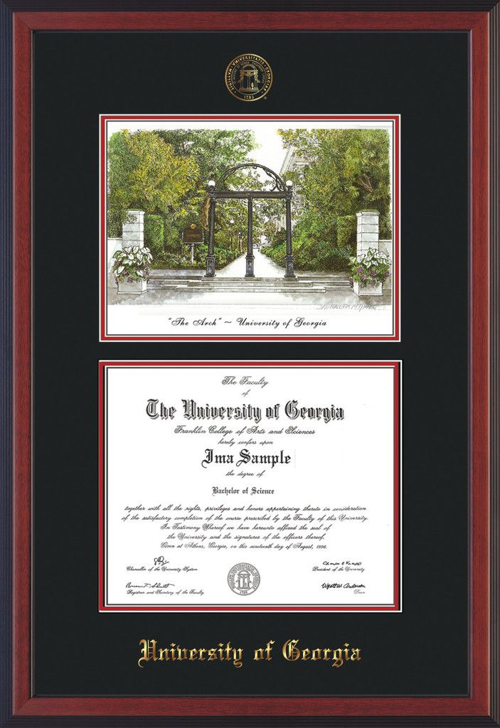 University of Georgia Diploma Frame - Cherry Reverse - with UGA Seal ...