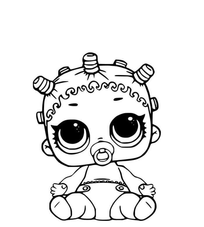 Lol Surprise Dolls Coloring Pages Lil Cosmic Queen Cara Menggambar Gambar