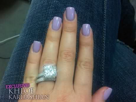 Khloe Kardashians Engagement Ring From Lamar Odom Before She Had It Reset In To A Hole Setting Kardashian Nails Khloe Kardashian Nails Nail Colors