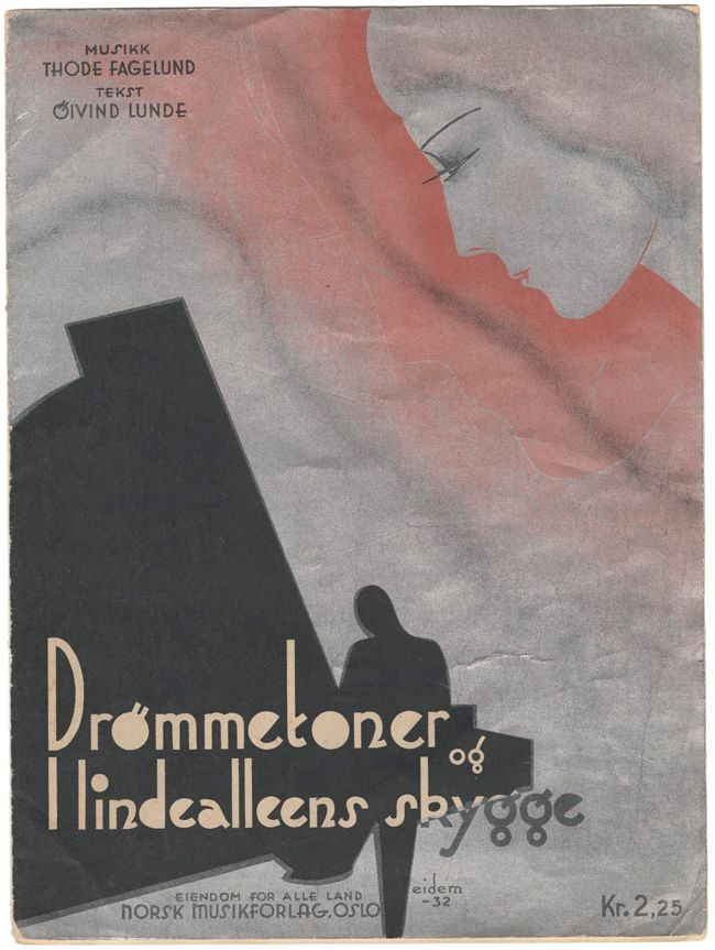 1932, sheet music cover from the collection of Einar Økland